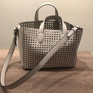 Handbags - Perforated Cream Bag